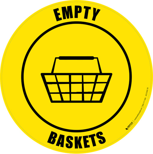 Empty Baskets -  Floor Sign