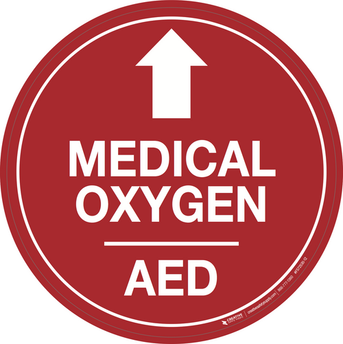 Medical Oxygenaed Arrow Up Creative Safety Supply