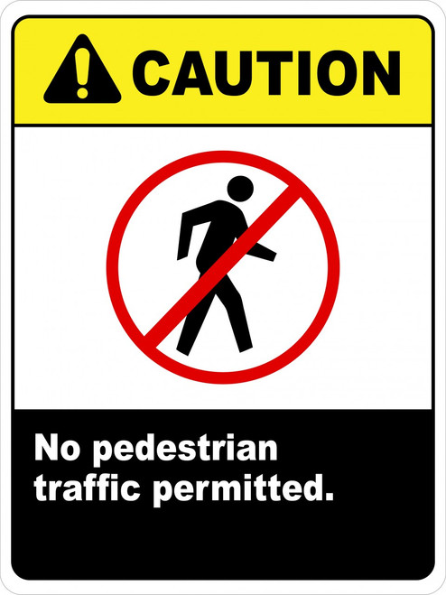 No Pedestrian Traffic (Wall Sign)