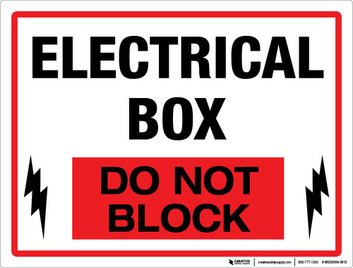Electrical Box - Do Not Block (Wall)