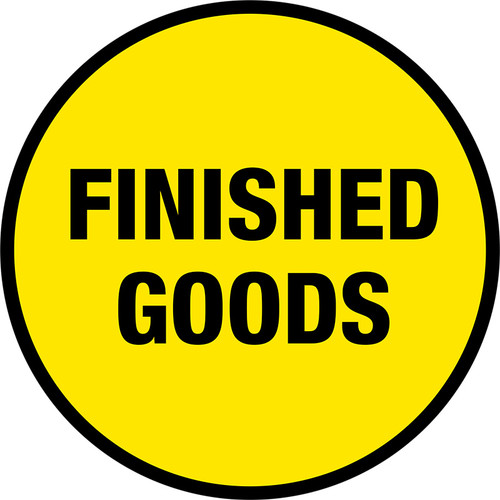Finished Goods Floor Sign