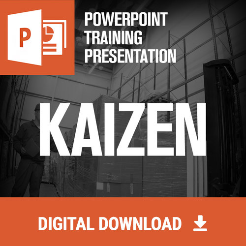 kaizen ppt training presentation ships same day