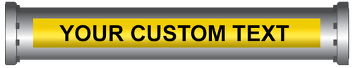 Custom Printed Labels and Pipe Markers - Yellow