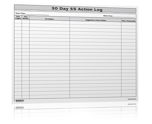 5S 30 Day Log