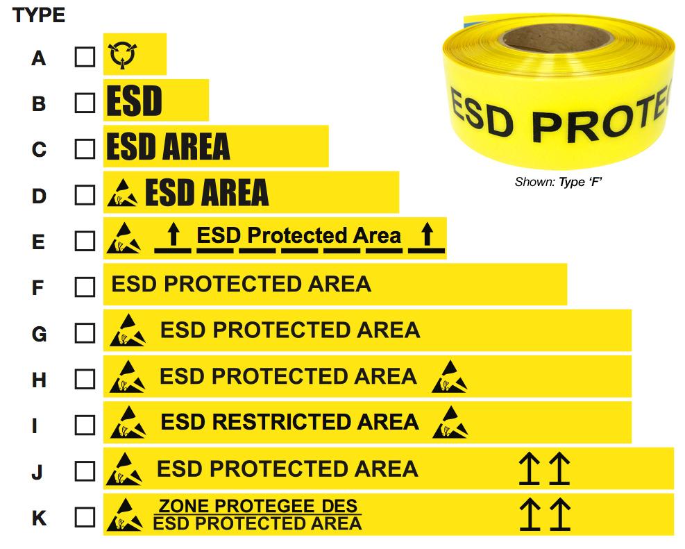 Custom ESD Industrial Tape