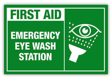 Emergency Eye Wash Label Creative Safety Supply