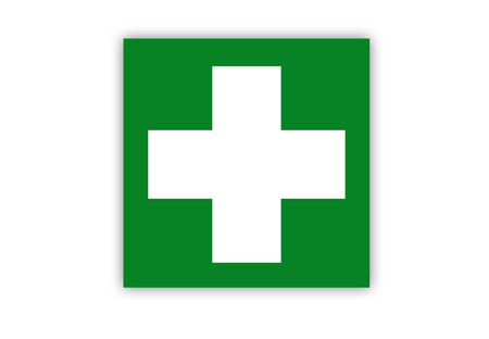 First Aid Symbol Label Creative Safety Supply