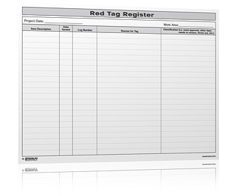 5s Red Tag Register Form We Have Many Different 5s Red