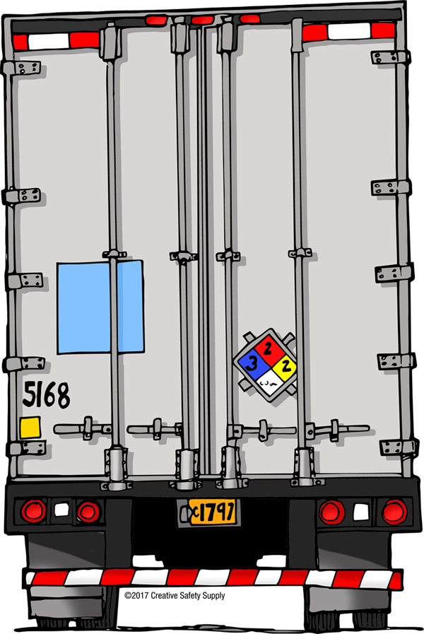 NFPA 704 Label on Truck