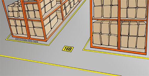aisle marking illustration