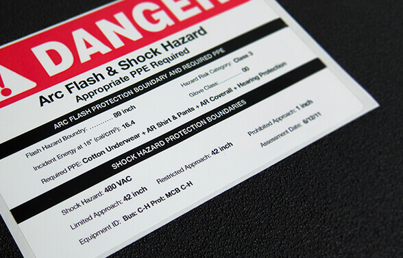 Custom Arc Flash Labels