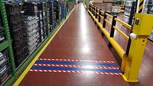 Forklift Zones - Floor Tape