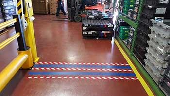 Forklift Floor Markings