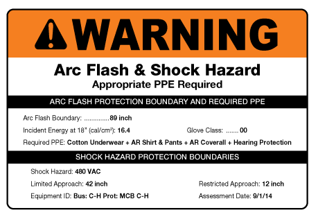 Arc flash facts creative safety supply for Arc flash policy template