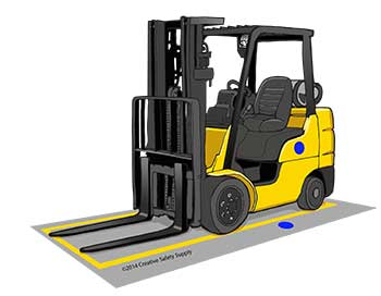 Using Floor Markings for Forklifts