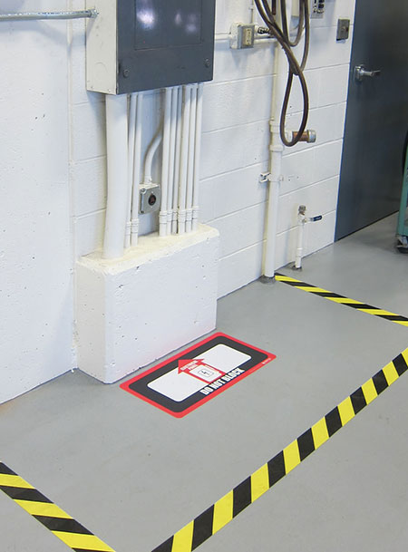 Floor Marking around Electrical Panel