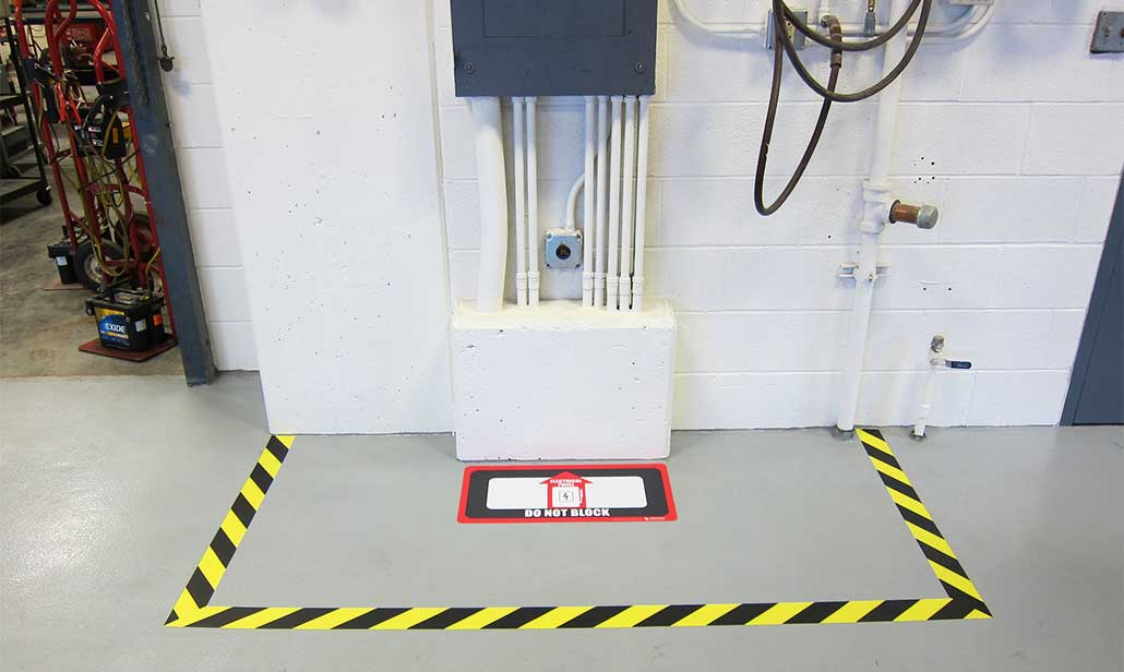Floor Marking For Electrical Panel Compliance