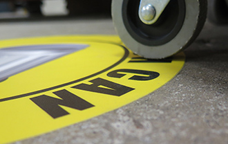 SafetyTac® Floor Tape Dual Stage Tapered Edges