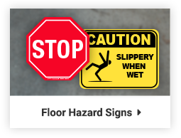 floor hazard signs