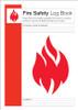 Fire Safety Log Book