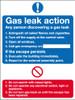 Gas leak action notice