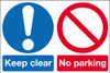 Keep clear  No parking sign