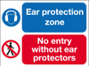 Ear protection zone multi message sign