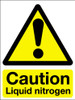Caution liquid nitrogen vinyl sign