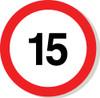 15 mph sign