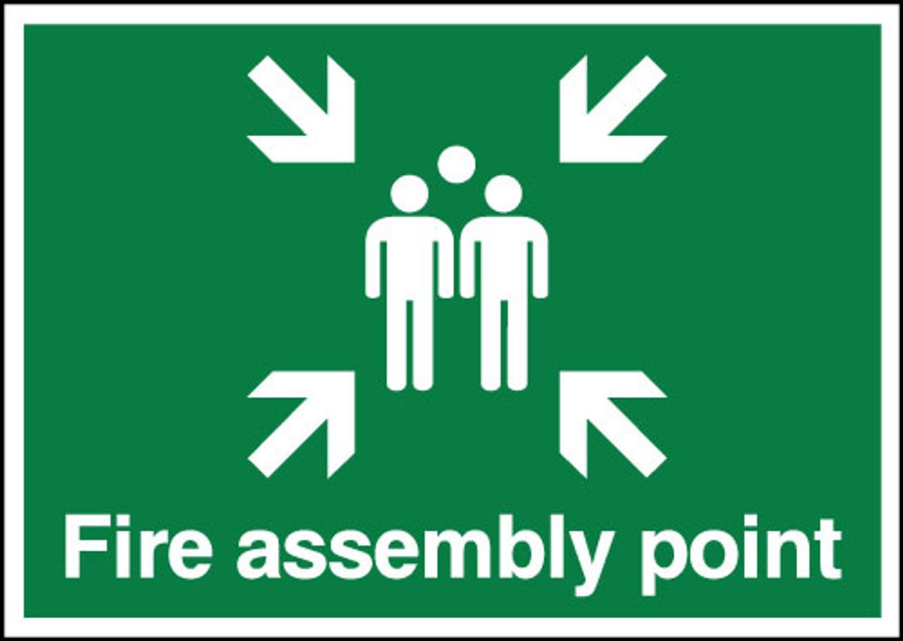 Fire assembly point sign Landscape