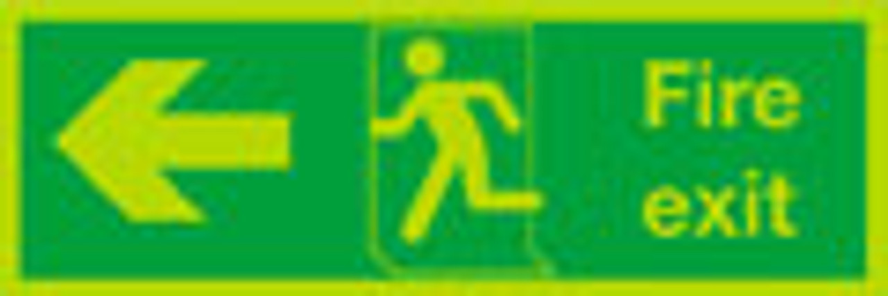 Nite-glo Fire exit Left sign