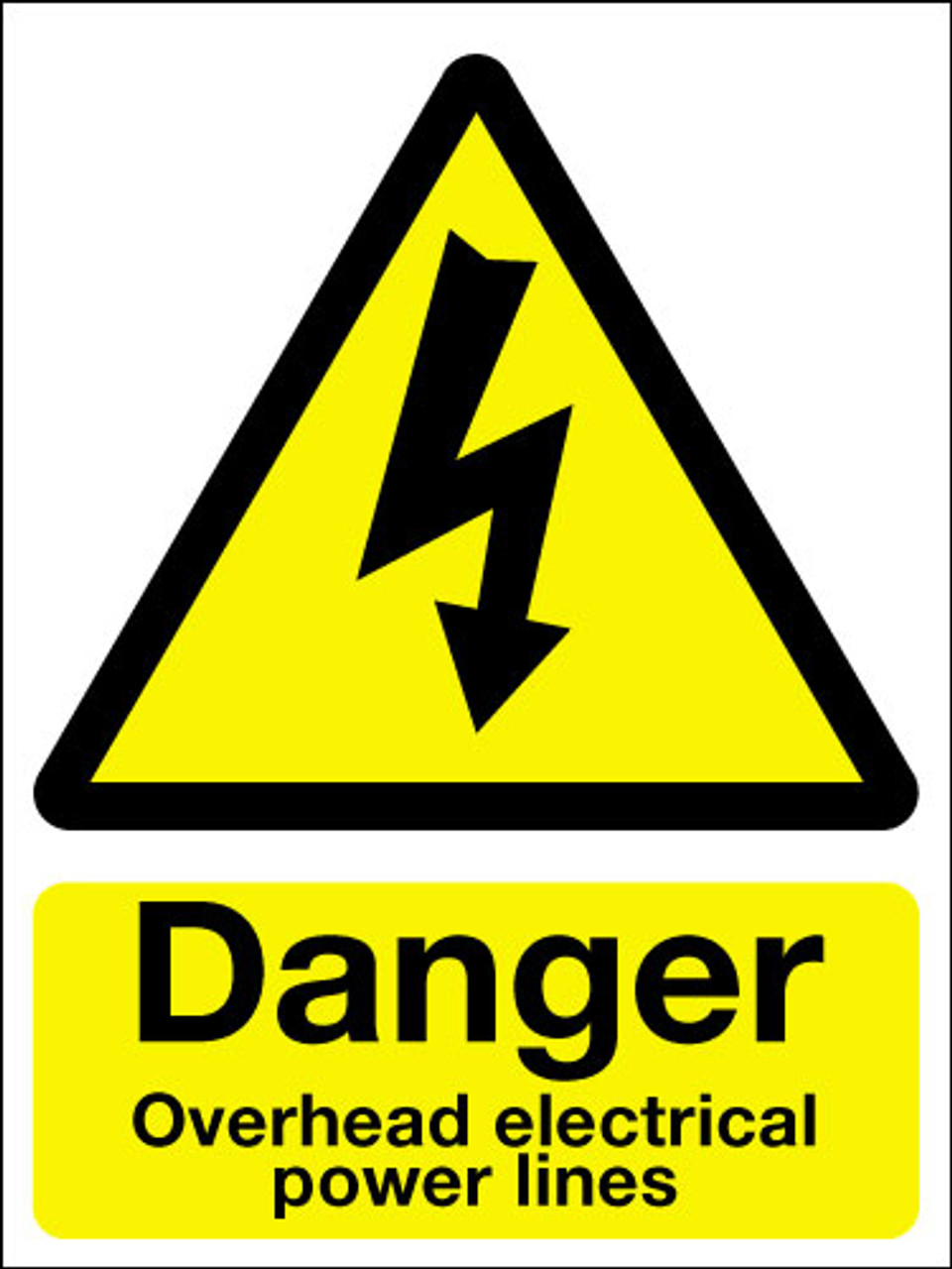 Danger Overhead Electrical Power Lines Sign Signs 2 Safety