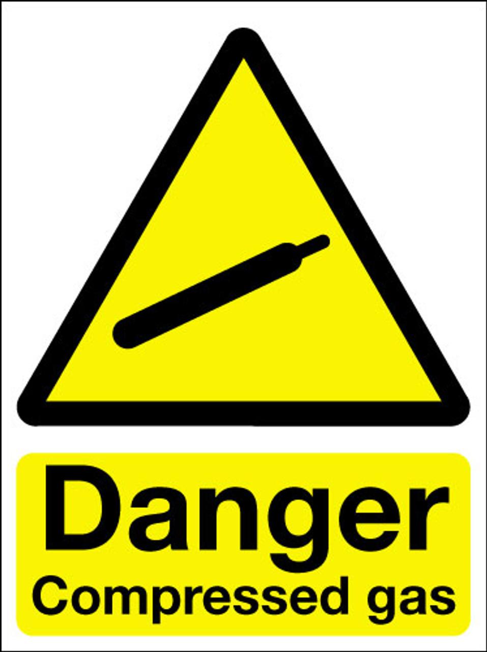 Danger Compressed Gas Sign Signs 2 Safety