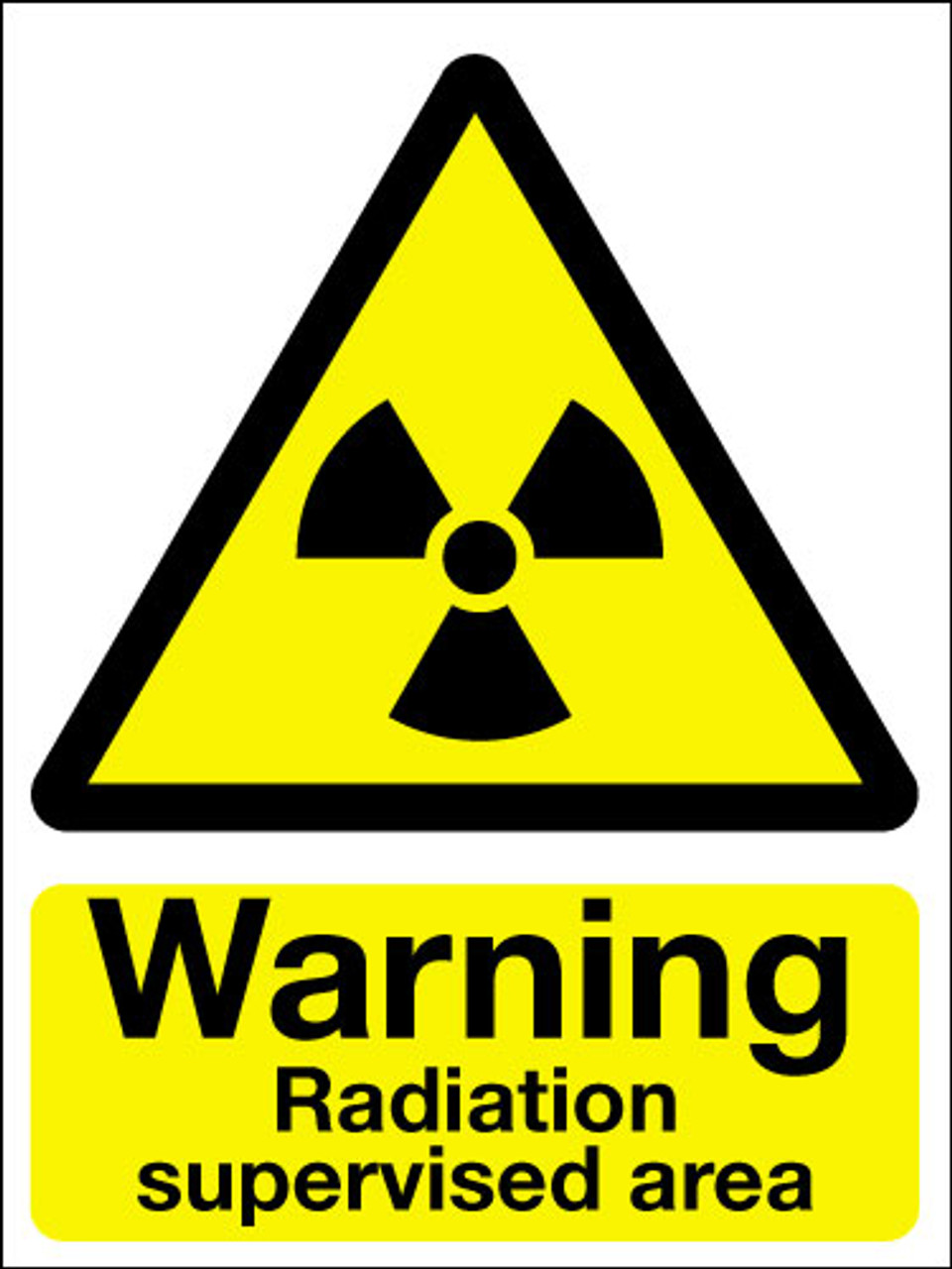 Warning Radiation Supervised Area Sign Signs 2 Safety