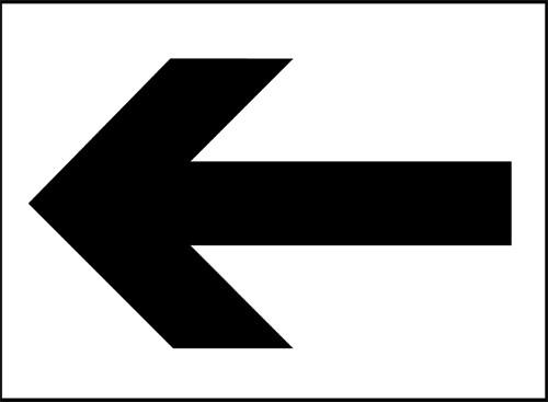 Arrow-left sign