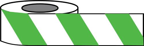 Green/White Hazard warning tape
