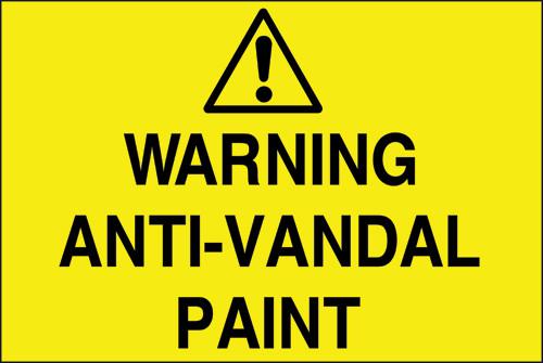 Warning anti-vandal paint