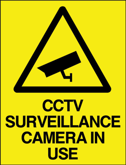 CCTV Surveillance camera in use sign