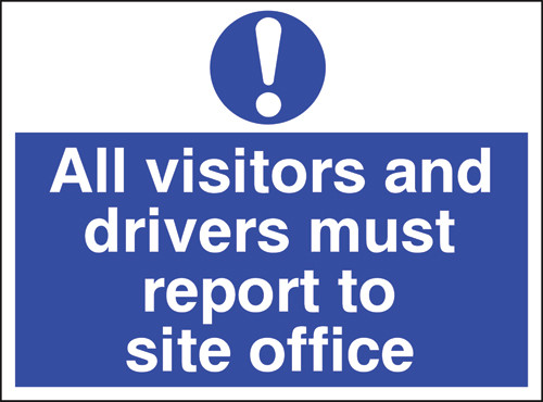 All visitors and drivers must report to site office
