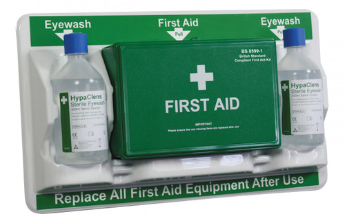 BS Compliant First Aid & Eye Care Station