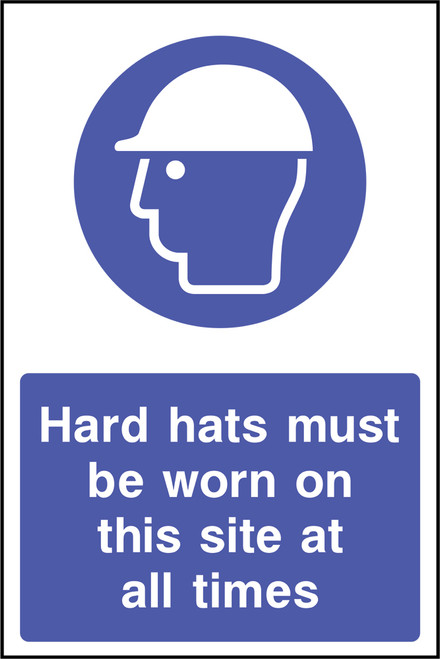 Hard hats must be worn sign
