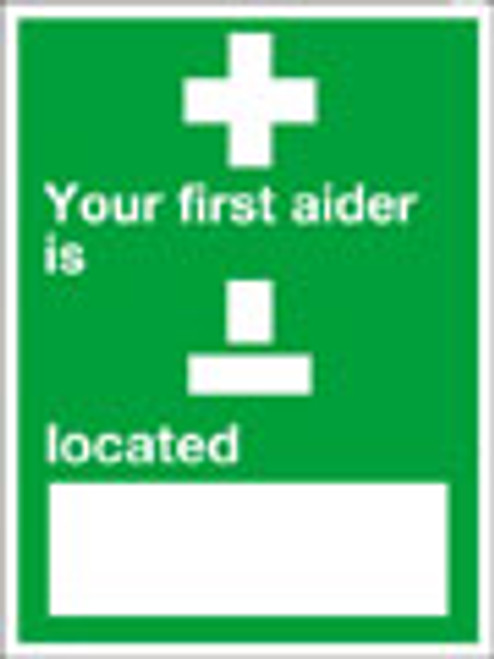 Your first aider is sign