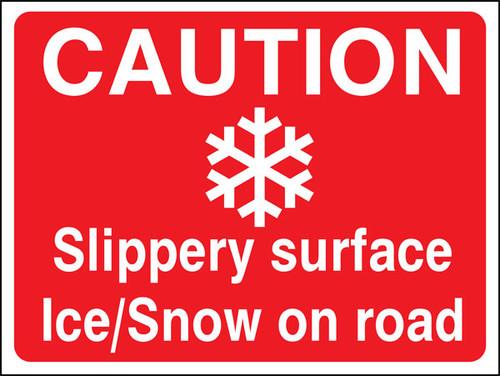 Caution Ice/Snow sign