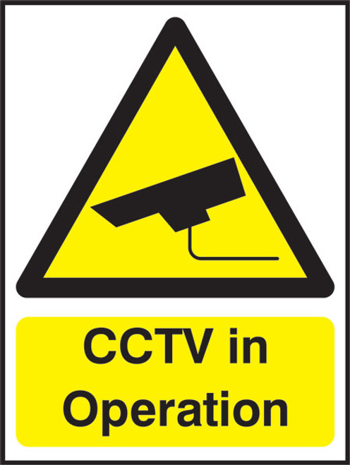 CCTV in operation..