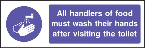All handlers of food must wash their hands