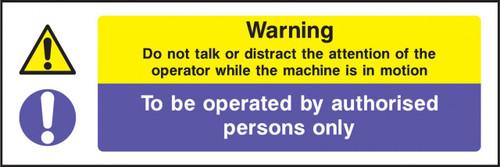 Warning do not talk...