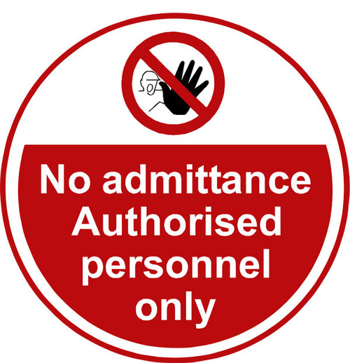 No Admittance Anti-slip floor sign