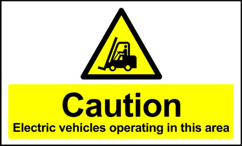 Caution Electrical Vehicles Anti-slip