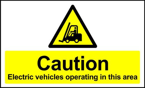 Caution Electrical Vehicles Anti-slip
