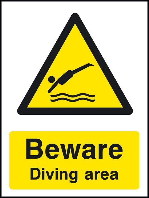 Beware Diving area